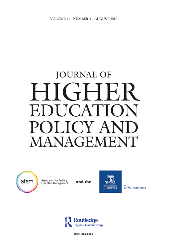 Journal of Higher Education Policy and Management: Vol 41, No 4