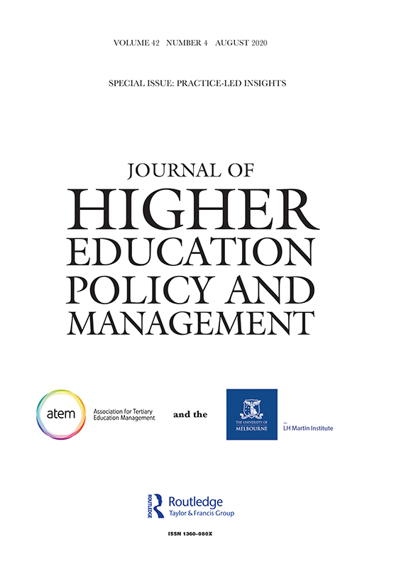 Journal Of Higher Education Policy And Management Vol 42 No 4
