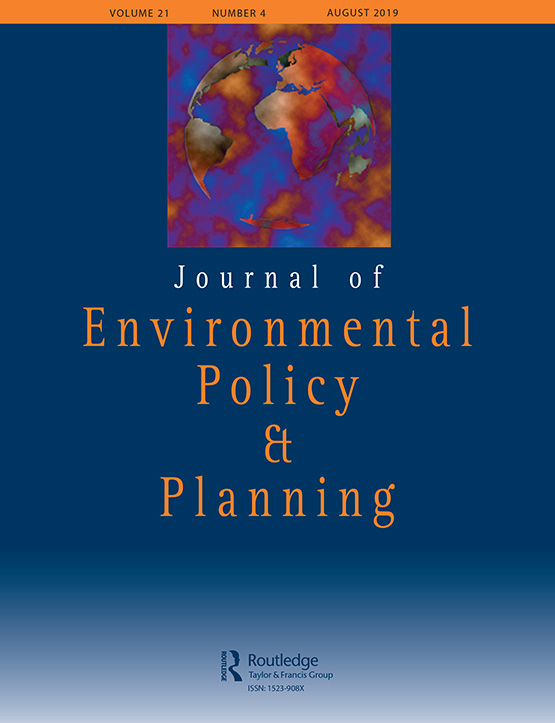 Journal of Environmental Policy & Planning: Vol 21, No 4