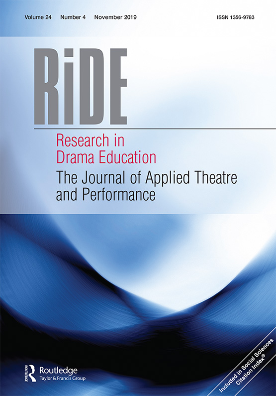 Research in Drama Education: The Journal of Applied Theatre