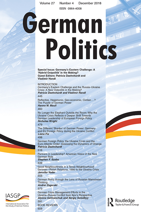 Full Article Good Neighbourliness In A Tense Neighbourhood German Polish Relations 1990 To The Ukraine Crisis