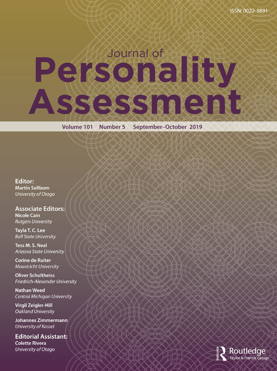 Journal of Personality Assessment: Vol 101, No 5