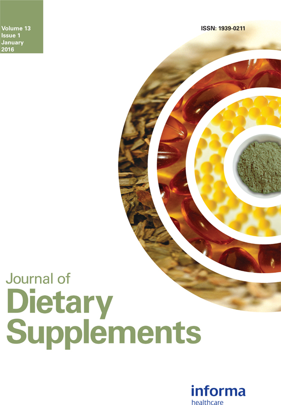 Journal Of Dietary Supplements Vol 13 No 1
