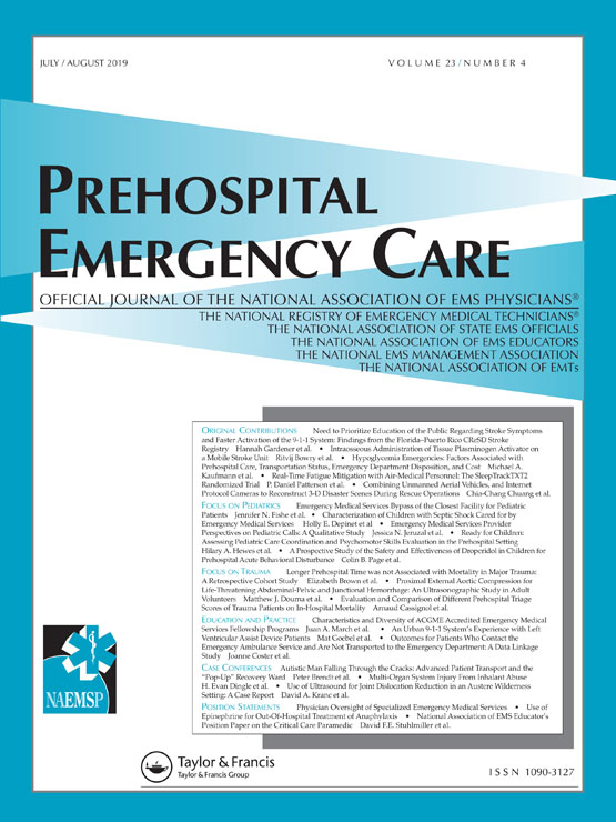 Prehospital Emergency Care: Vol 23, No 4