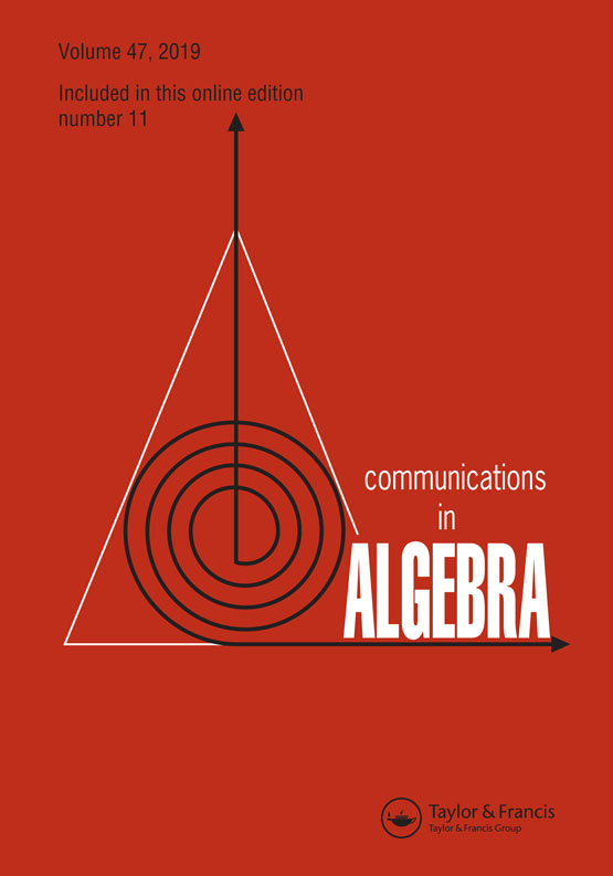 Communications in Algebra: Vol 47, No 11