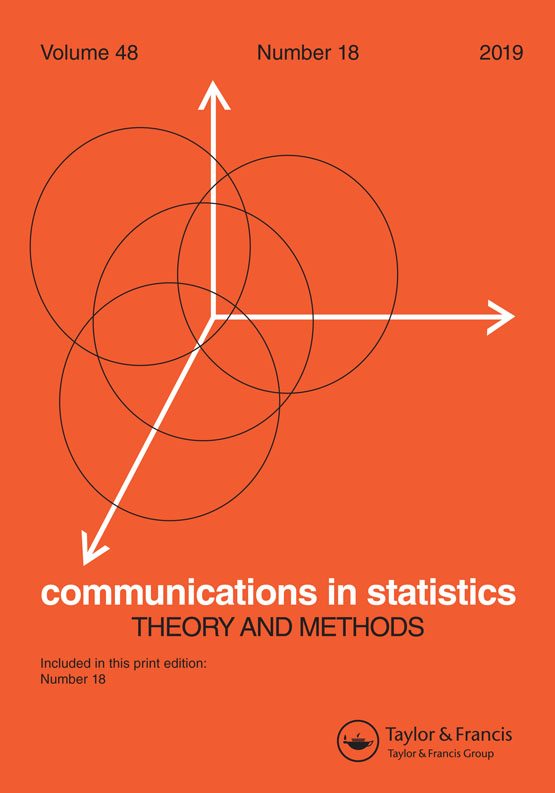 Communications in Statistics - Theory and Methods: Vol 48, No 18