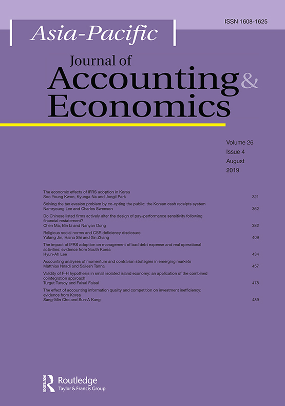 Asia-Pacific Journal of Accounting & Economics: Vol 26, No 4