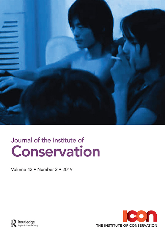 Journal of the Institute of Conservation: Vol 42, No 2