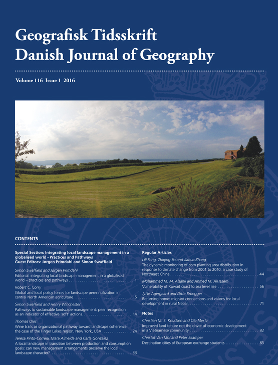 Full Article Pathways To Sustainable Landscape Management Peer Recognition As An Indicator Of Effective Soft Actions
