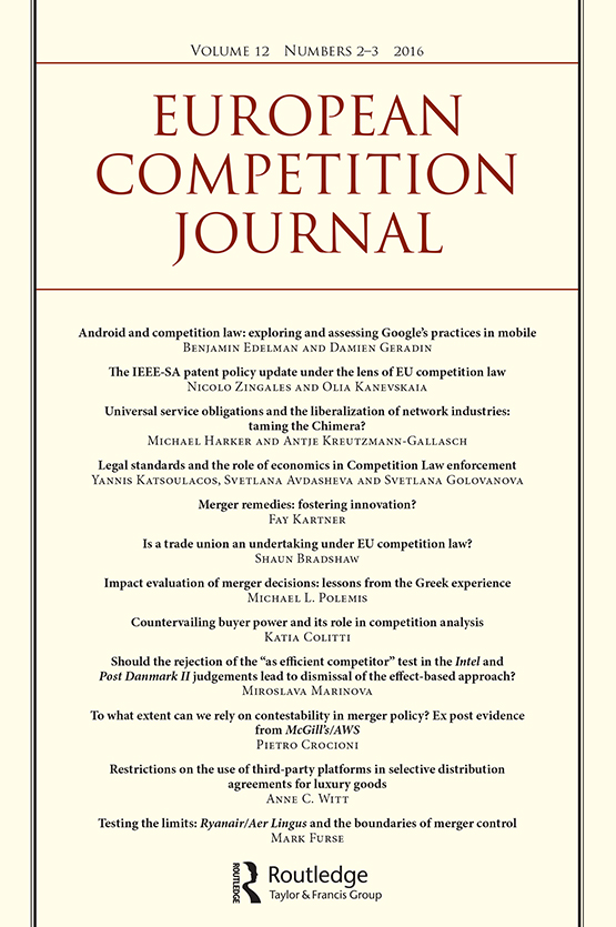 European Competition Journal: Vol 12, No 2-3