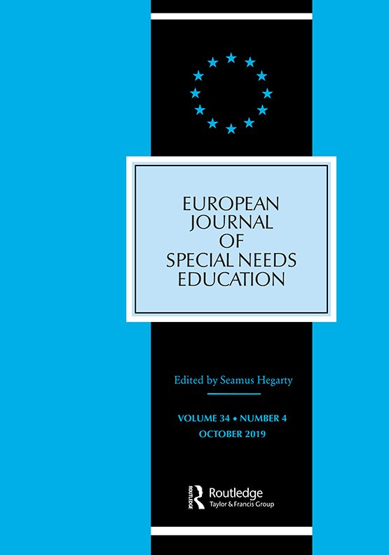 Whats In Label In Special Ed Words >> European Journal Of Special Needs Education Vol 34 No 4