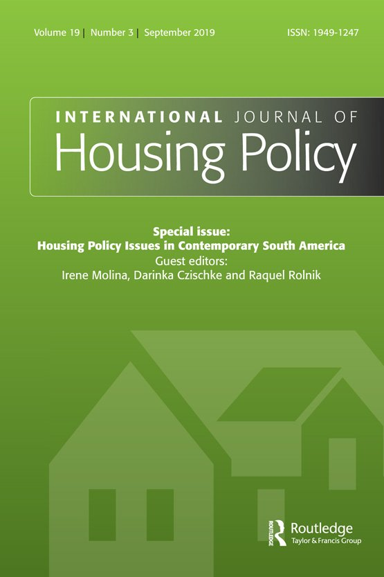International Journal of Housing Policy: Vol 19, No 3