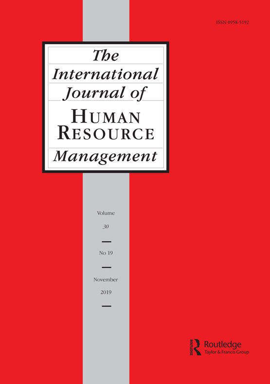 The International Journal of Human Resource Management: Vol