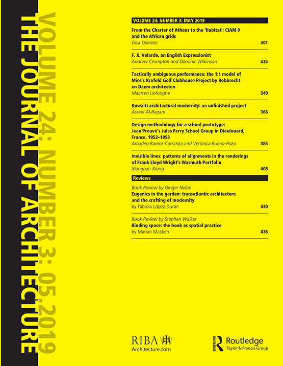 The Journal of Architecture: Vol 24, No 3
