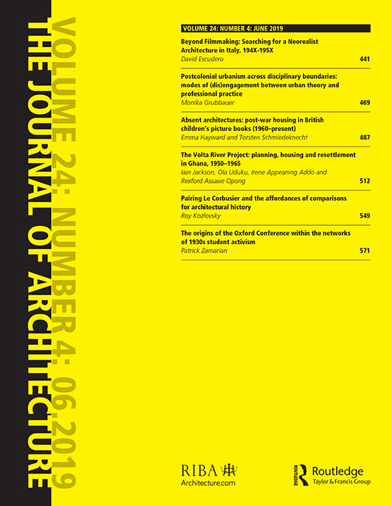 The Journal of Architecture: Vol 24, No 4