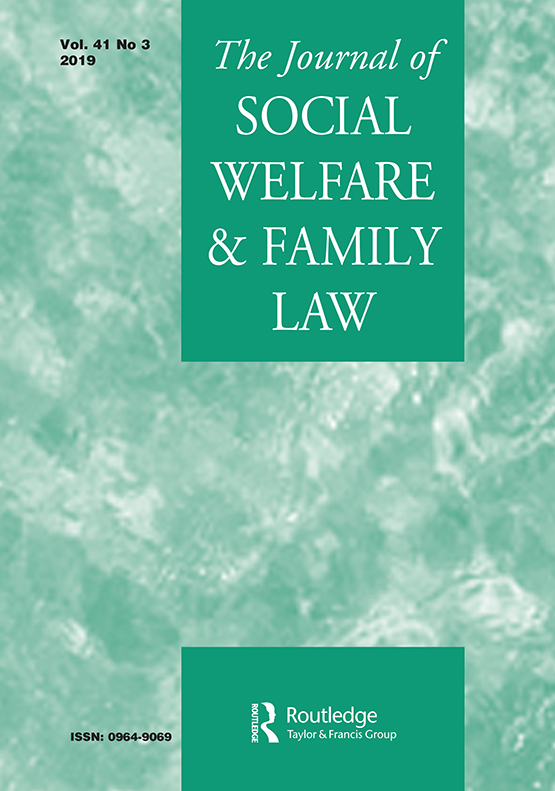 Journal of Social Welfare and Family Law: Vol 41, No 3