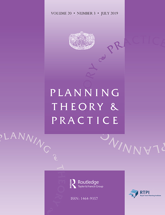 Planning Theory & Practice: Vol 20, No 3