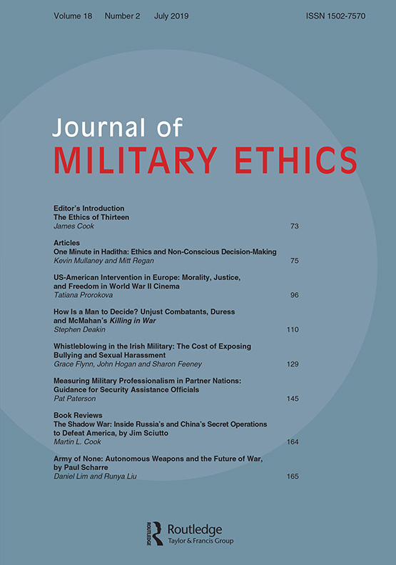 Journal of Military Ethics: Vol 18, No 2