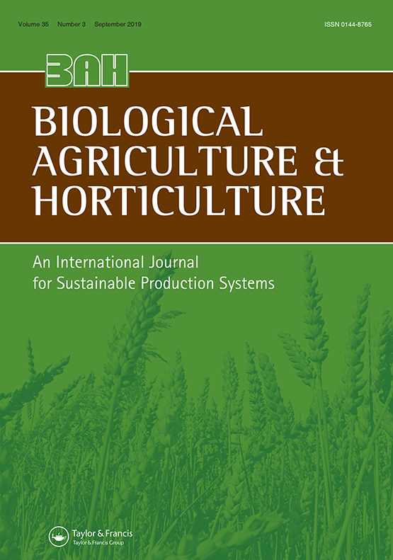 Journal of Applied Horticulture, volume