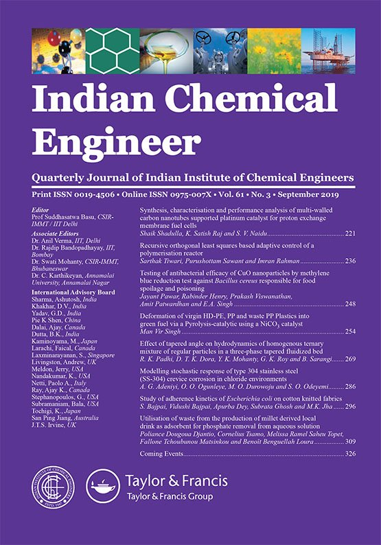 Indian Chemical Engineer: Vol 61, No 3