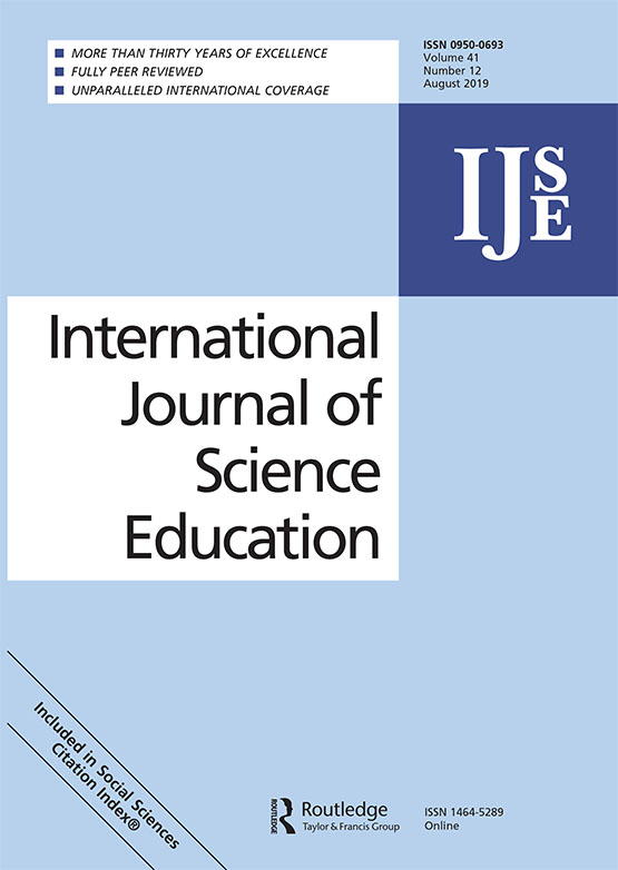 International Journal of Science Education: Vol 41, No 12