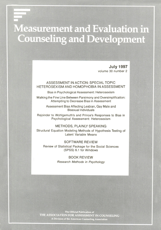 Assessment Bias Affecting Lesbian Gay Male And Bisexual Individuals Measurement And Evaluation In Counseling And Development Vol 30 No 2 Suggest as a translation of assessment bias copy assessment bias affecting lesbian gay