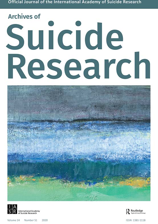Archives of Suicide Research: Vol 24, No sup1