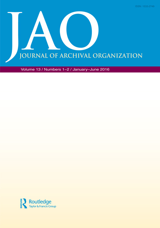 Opportunities for Encoding EAD for Linked Data Extraction and Publication:  Journal of Archival Organization: Vol 13, No 1-2
