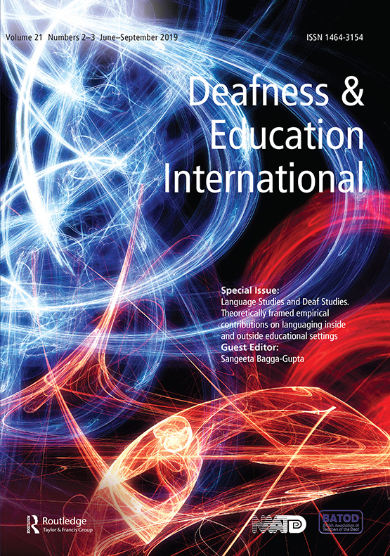 Deafness & Education International by Taylor and Francis (Journal cover)