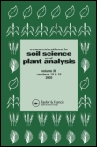 Communications in Soil Science and Plant Analysis