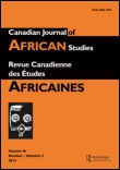Canadian Journal of African Studies/La Revue canadienne des études africaines