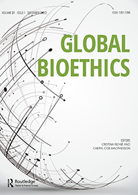 Cover of the journal Global Bioethics