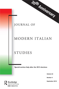 Journal of Modern Italian Studies