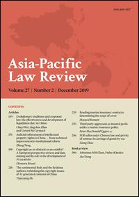 Asia Pacific Law Review