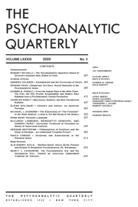 The Psychoanalytic Quarterly