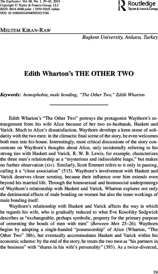edith wharton  the other two